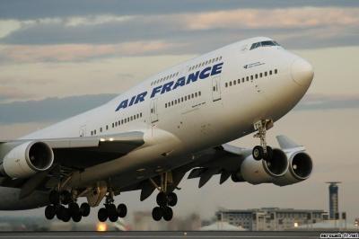 Boeing 747 atterro