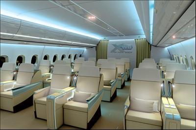 interieur de la 350 airbus