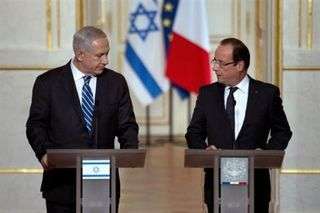 Afp-martin-bureau-francois-hollande-(d)-et-le-premier-ministre-israelien-benjamin-netanyahu-le